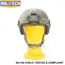 ISO сертифицированный MILITECH FG NIJ уровень IIIA 3A Быстрый высокий XP Cut пуленепробиваемый арамидный баллистический шлем с 5 лет гарантии