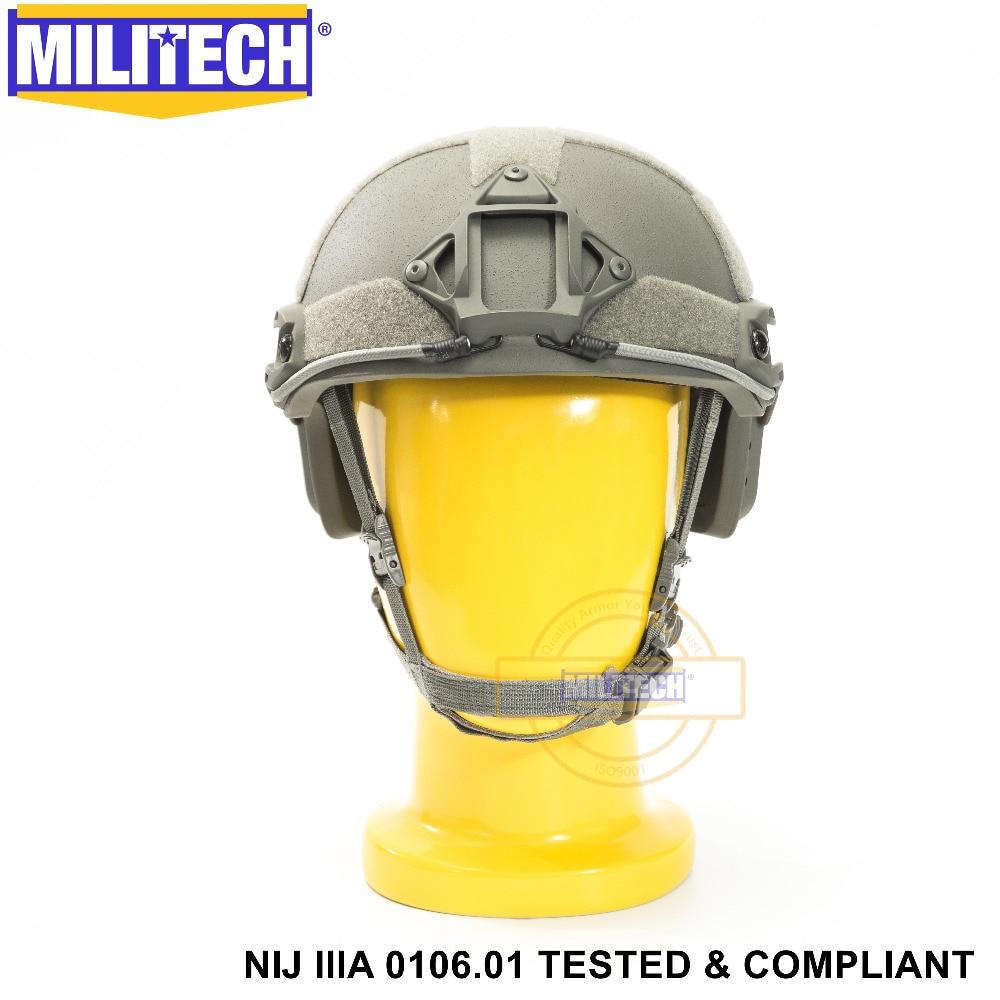 ISO Certifié MILITECH FG OCC Cadran NIJ Niveau IIIA 3A RAPIDE High Cut Aramide Balles Balistiques Casque Avec 5 Ans garantie