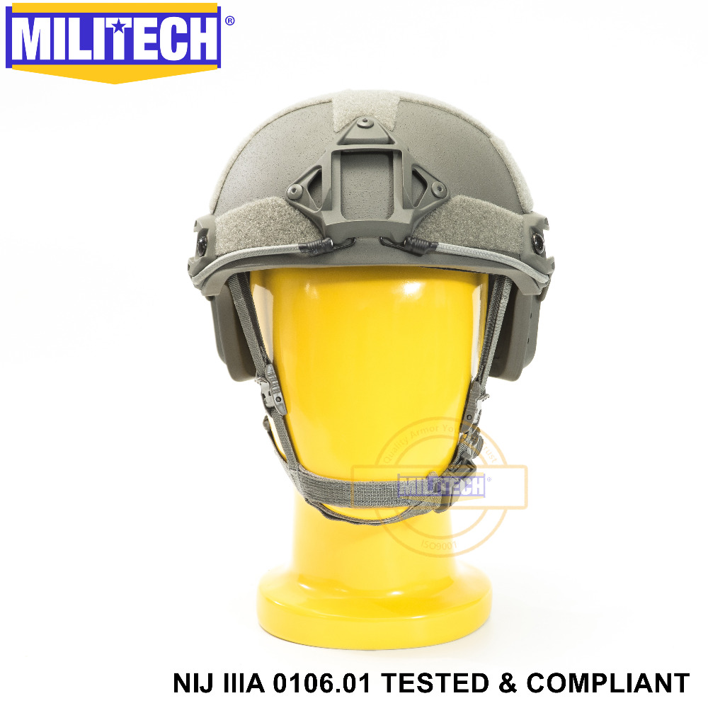 ISO Certified 2019 New MILITECH FG NIJ Level IIIA 3A FAST High XP Cut Bulletproof Aramid Ballistic Helmet With 5 Years Warranty