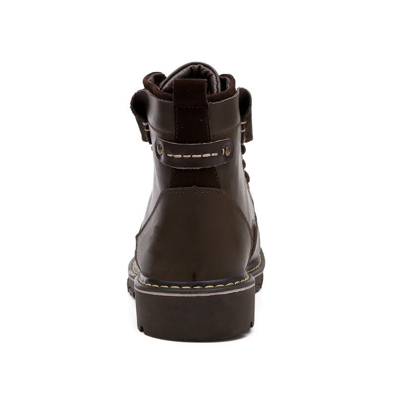 Chaud De D'hiver 44 Haute Bottes Fur Chaussures Véritable brown Fur No En Cuir 38 Hommes Fur Black Peluche Sécurité Qualité black 81FSvS