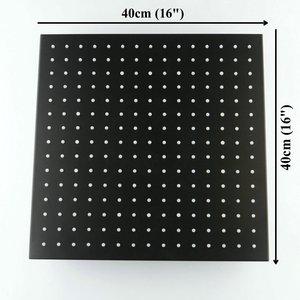 Image 2 - Accesorios para grifos de baño de alta calidad, cabezal de ducha de acero inoxidable SUS304 cuadrado de lluvia de 16 pulgadas, acabado negro mate, venta al por mayor