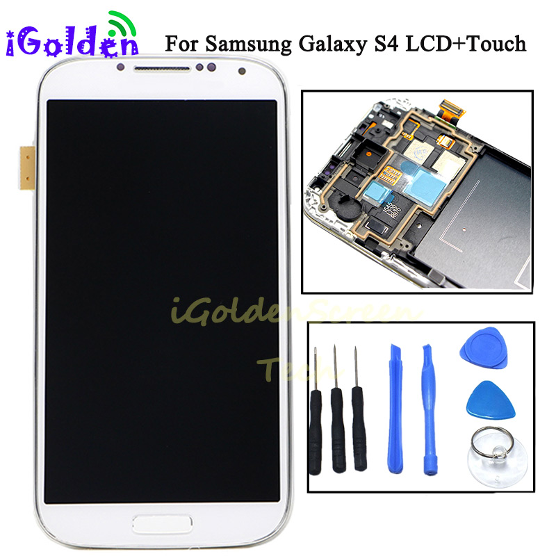 Original OEM LCD For Samsung S4 i337 i9505 i9500 i545 m919 Lcd Screen Digitizer with frame Assembly AAA Mobile Phone +Tools-in Mobile Phone LCD Screens from Cellphones & Telecommunications    1