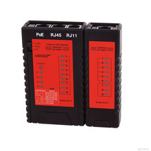 Кабель непрерывности тестеров POE Тестер Проверить RJ11 и RJ45 Кабель быстро Обнаружить Автоматически проверяет непрерывность NF-468PF