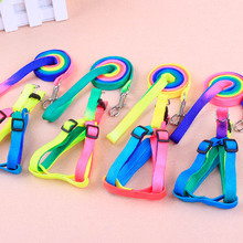 10pcs/lot Colorful Basic Dog Halter Harnesses Nylon Leashes Pets Supplies Solid Adjustable 1*120cm Traction Rope