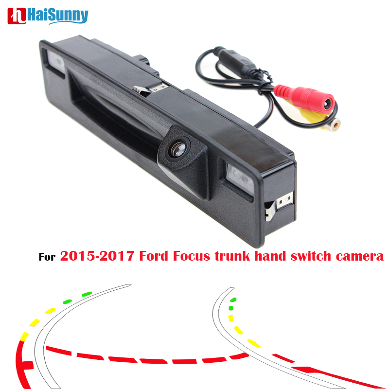 HaiSunny Trunk Handle Switch Wide view Sony CCD Car Parking Rear View Camera For Ford Focus