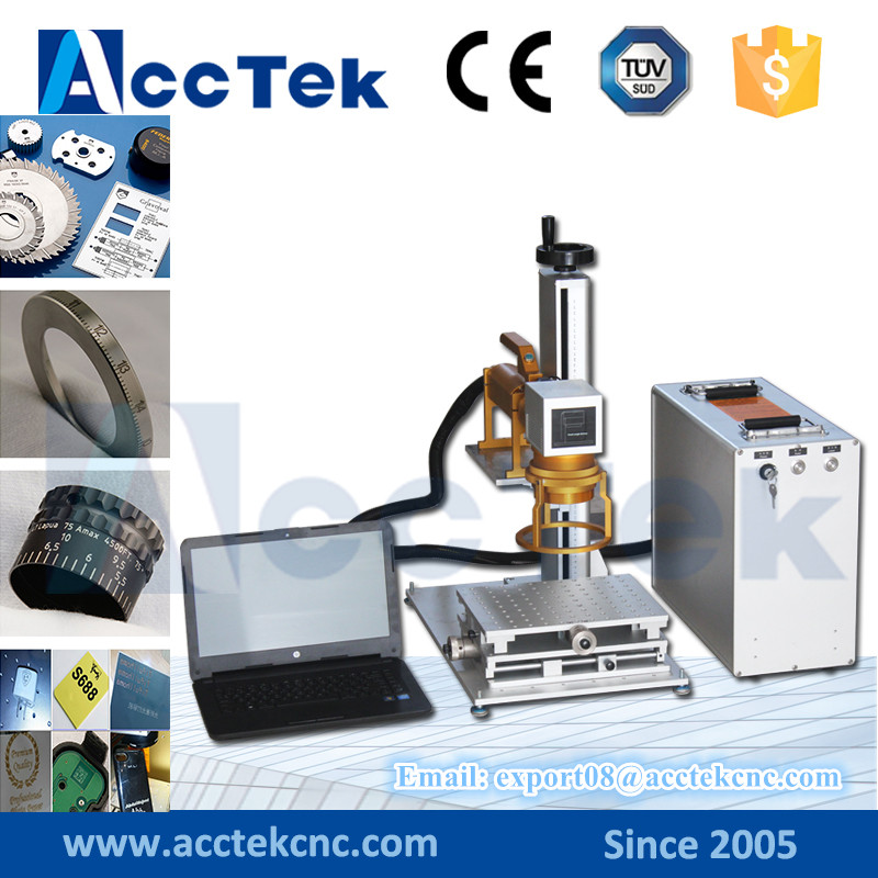Hot sale portable mini fiber laser marking machine / metal laser marking machine price