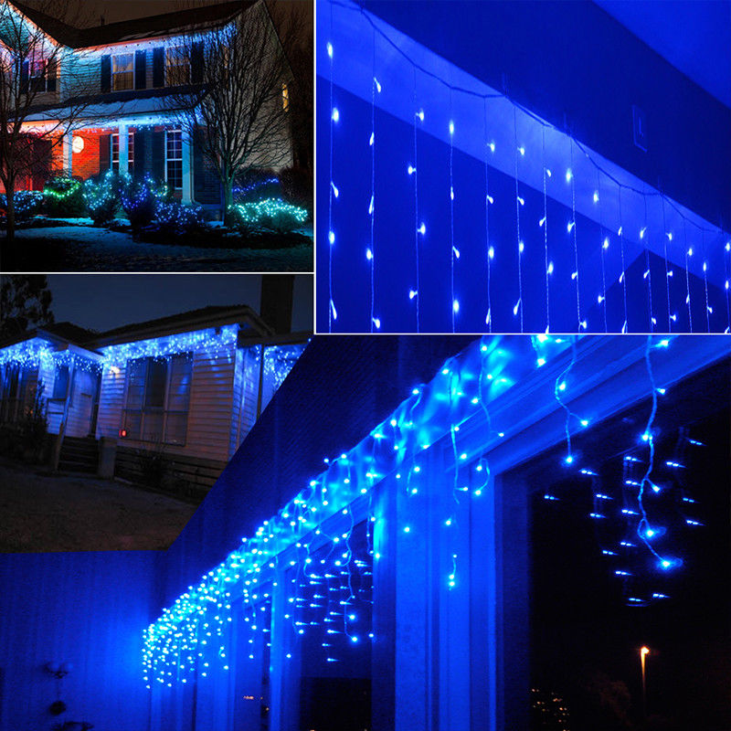<font><b>5M</b></font> <font><b>216</b></font> <font><b>LED</b></font> 220V Christmas Curtain Icicle String Fairy Lights Outdoor waterproof decoration New Year street festoons Lamp image