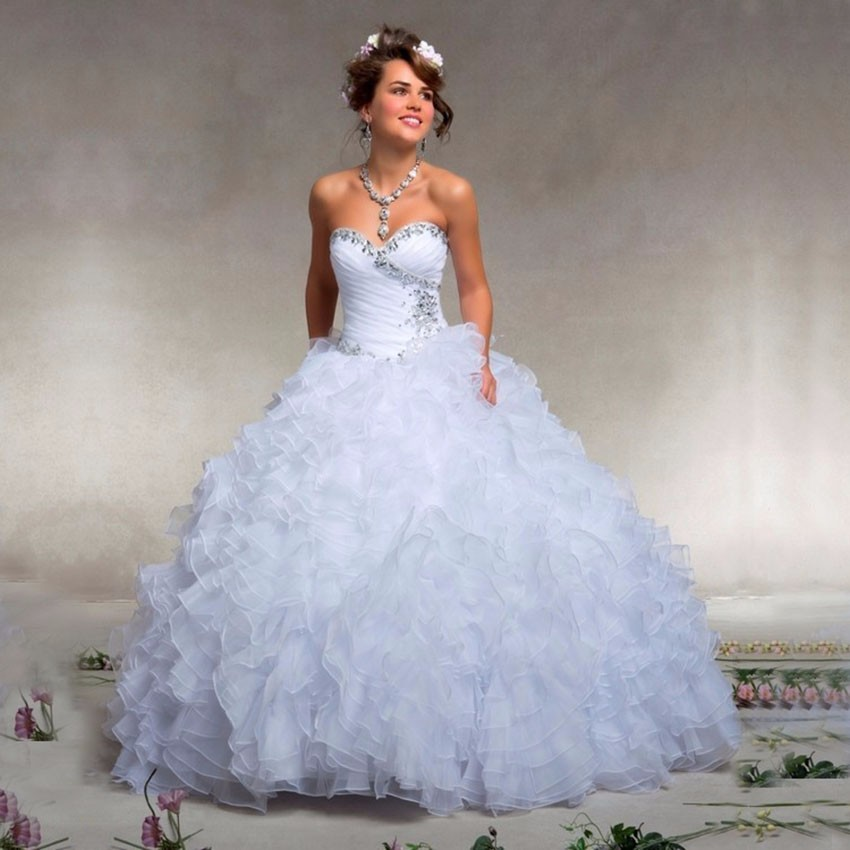 Popular Quinceanera Dress Bling White-Buy Cheap Quinceanera Dress ...