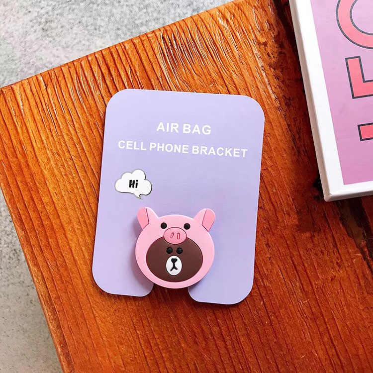 Универсальный мобильный телефон растягивающий кронштейн мультфильм воздушная сумка телефон расширяющийся телефон стенд палец автомобильный держатель телефона для iPhone samsung