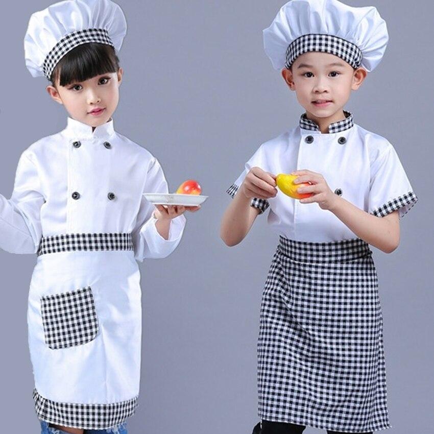 f86b068bfaf Disfraz chico Niño para Chef uniforme chaqueta niños Cosplay cocina  restaurante ropa jardín de infantes actuación Niños Niñas Ropa conjunto en  de en ...