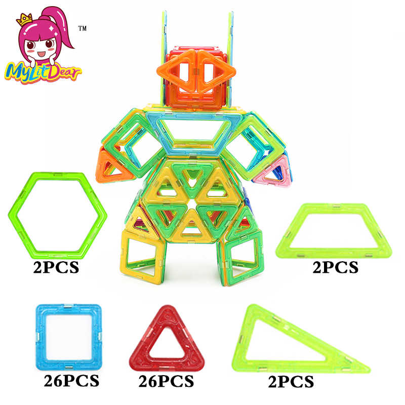 115 PCS Kota Truk Robot Enlighten Batu Bata Blok Bangunan Magnetik Diy Kreatif Batu Bata mainan Anak-anak Pendidikan Anak Laki-laki Hadiah
