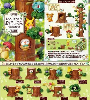 4cm 8pcs/set Pikachu Bulbasaur tree stump Bulbasaur Action figure toys collection doll Christmas gift with box action figure pokemon