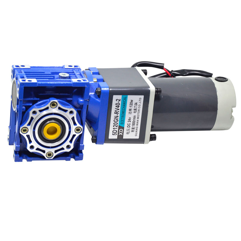цена на 0.1rpm - 1.5rpm RV40 DC Worm Reducer Motor 120W 12V 24V Low Speed 2-stage DC Gear Motor NMRV40 Self-locking Gear CW CCW