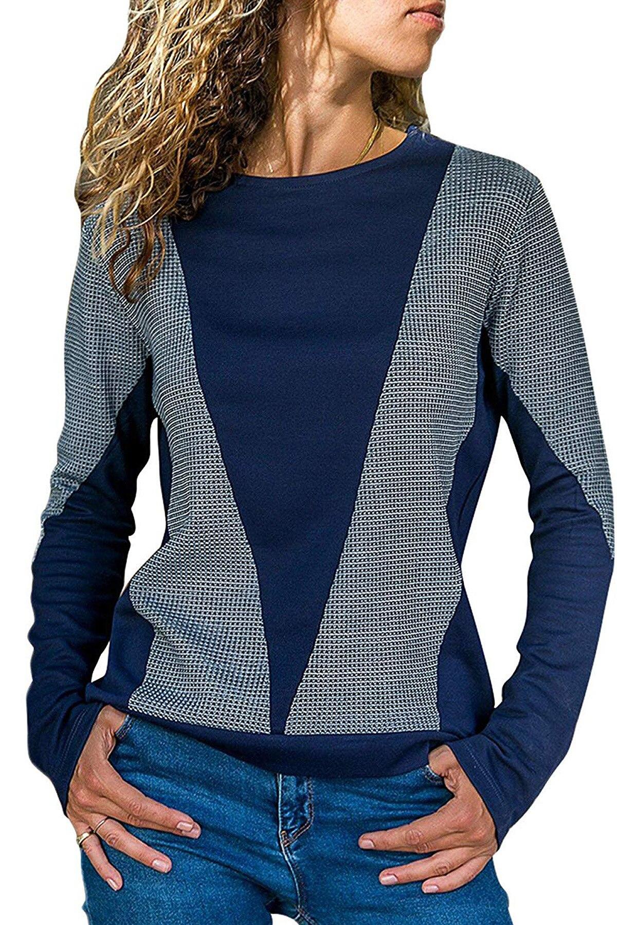 2018 Autumn fashion hot selling USA and Europian women O-neck long sleeves sports coat