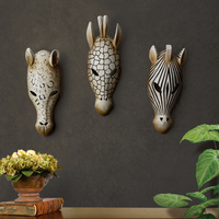 European style resin wall decorations wall hanging home bar club wall decoration crafts retro animal head wall ornaments