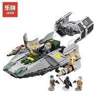 LEPIN 05030 722Pcs Star Wars Vader Tie Advanced VS A Wing Starfighter LegoINGlys 75150 Building Blocks