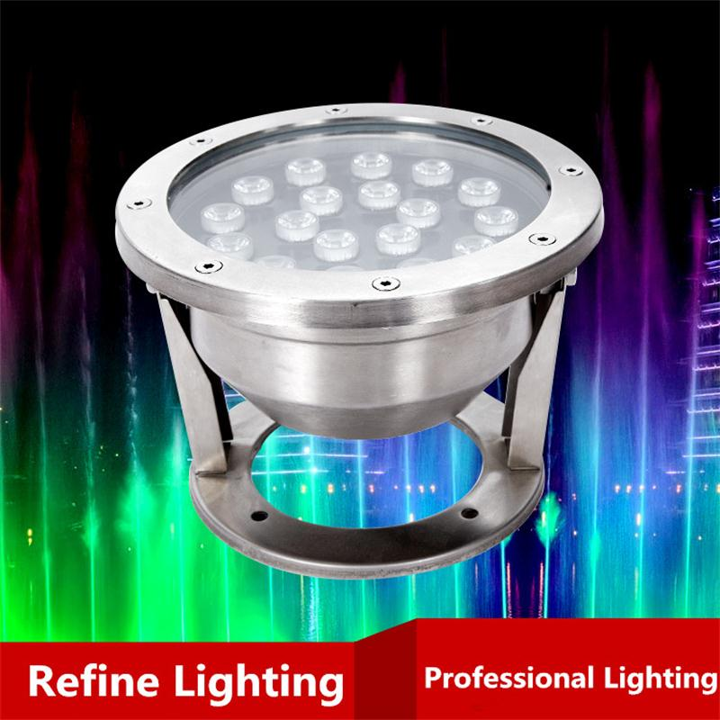 Underwater LED RGB 18W IP68 Swimming Pool Light For Piscine Iluminacao Outdoor Fountain Lights Project Decor LED Underwater Lamp underwater