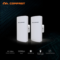 2Pcs Wireless Bridge wifi Router amplifier Repeater wi fi Access Point 300Mbps Outdoor mini CPE Bridge NanoStation for IP Camera