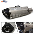 good qualityuniversal  motorbike muffler carbon fiber modified  exhaust  style for  suzuki sv1000 / s sv 1000 / s sv1000s