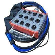 купить KUILONG Pro Audio 12 channel  Stage Snake Cable wiht box 20M недорого