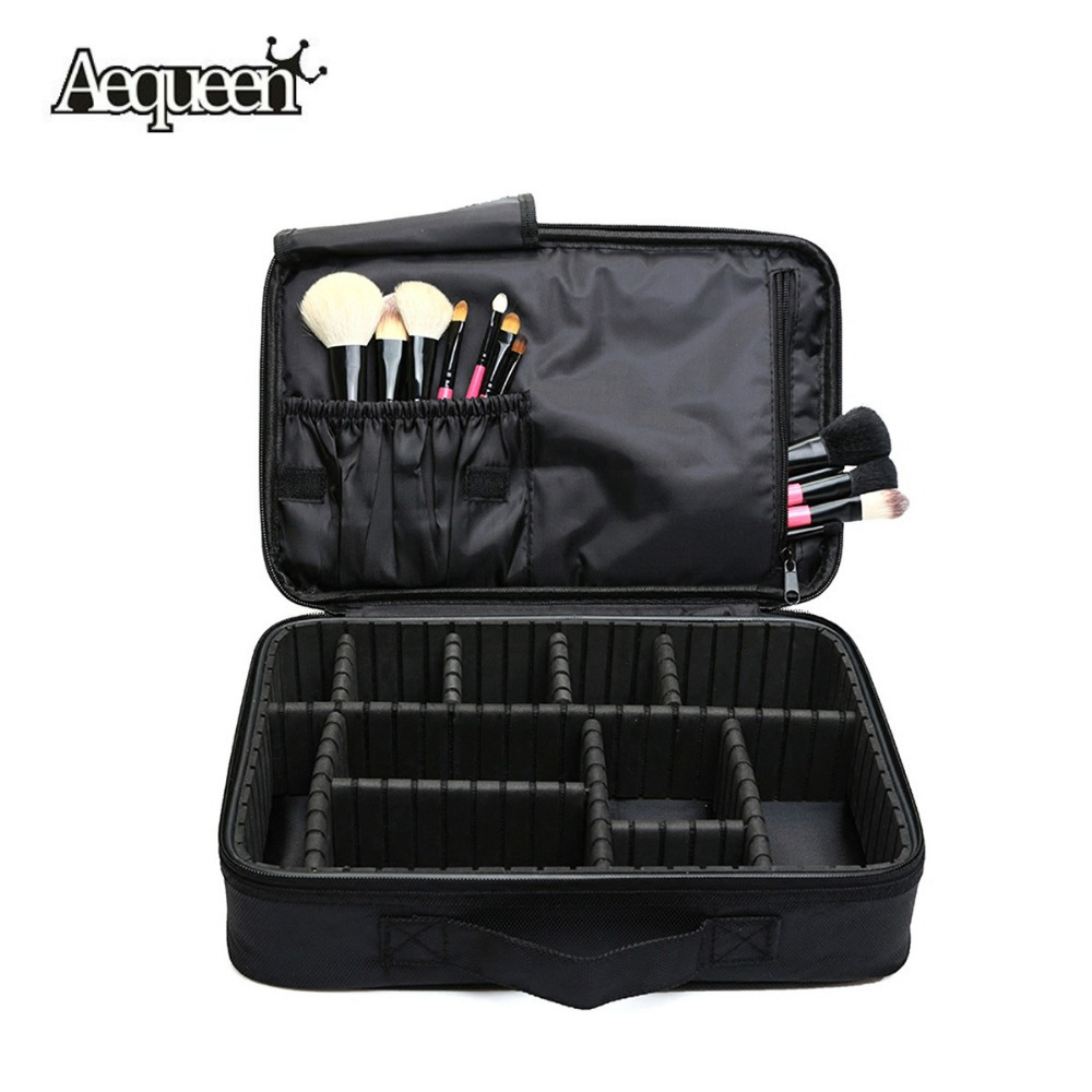 Women Makeup Bag High Quality Professional Organizer Makeup Brush Bag Case Cosmetic Bag Large Capacity Storage Bag Art Tool Box spark storage bag portable carrying case storage box for spark drone accessories can put remote control battery and other parts