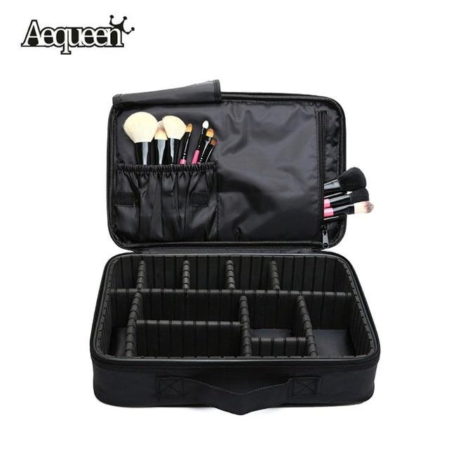 Women Makeup Bag High Quality Professional Organizer Makeup Brush Bag Case Cosmetic Bag Large Capacity Storage Bag Art Tool Box