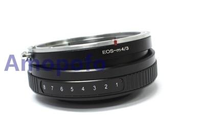 Adaptér pro sklopný objektiv Amopofo EF-M4 / 3 pro objektivy Canon EF pro montáž na objektivy Micro4 / 3 E-P1 Olympus E-P1, E-P2, E-P3