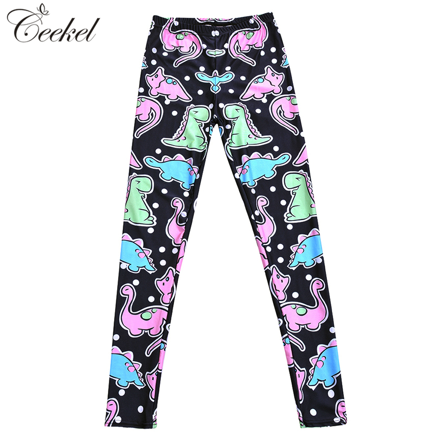 Small Dinosaur Cartoon 3D Printed Fitness Leggings Push Up Plus Size Women  Pants Sexy Slim Jeggings Workout Leggins Mujer S 4XL-in Leggings from  Women s ... a78134e1f317