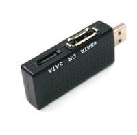 Retail Wholesale Brand New 2 In 1 USB 2 0 To ESATA SATA Bridge Adapter For