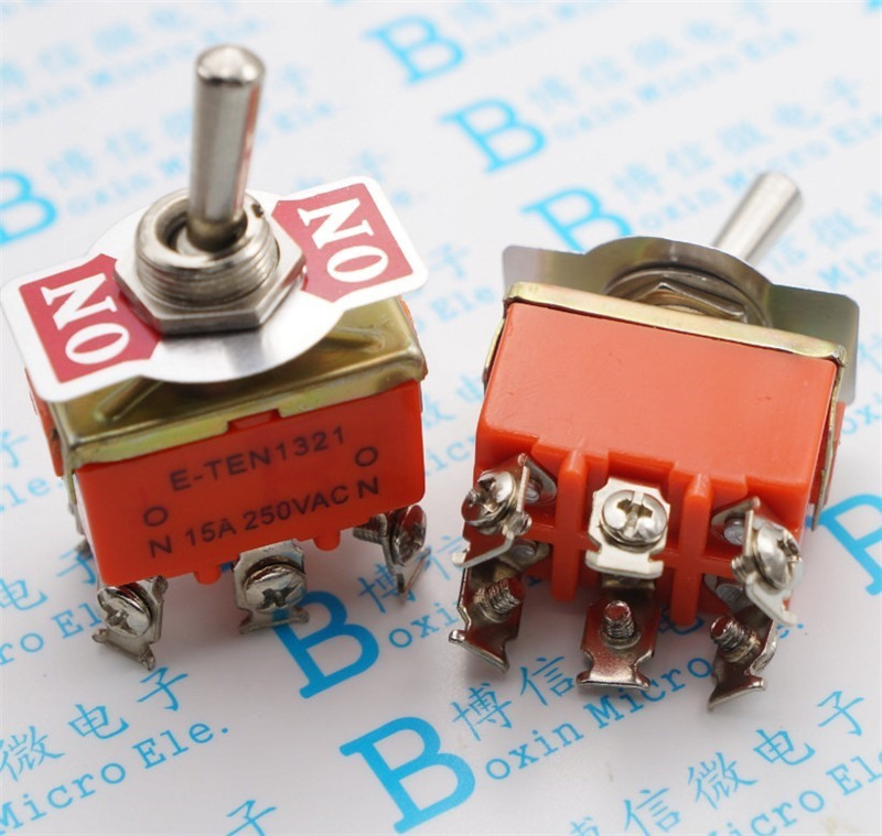 2PCS YT2122 15A 250VAC 6PIN ON-ON E-TEN1321 Toggle switch Rocker switch The power switch Free Shipping micro switch toggle switch the switch s 422t
