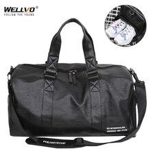 Мужская кожаная дорожная сумка, складная переносная обувь, сумки на плечо, сумка для багажа, большая вместительность, дорожная сумка, женская сумка для путешествий XA160ZC