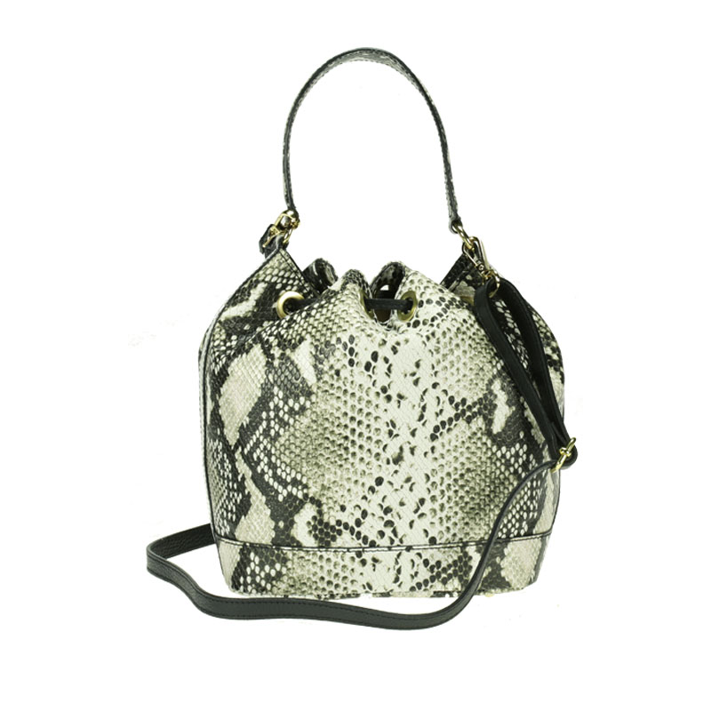 lulu milano Genuine leather leather printed snakeskin handbag made in Italy   P105-s 1