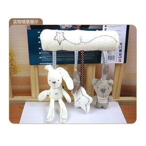 Image 5 - Thỏ Bé Âm Nhạc Treo Giường Chỗ Ngồi An Toàn Tay Đồ Chơi Sang Trọng Chuông Đa Chức Năng Đồ Chơi Sang Trọng Xe Đẩy Em Di Động Quà Tặng Trẻ Em Quà Tặng Bé