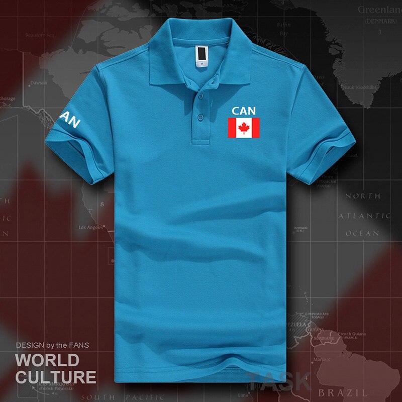 Canadá canadenses polo camisas dos homens de manga curta branco marcas impressas para país 2017 algodão nação equipe bandeira nova moda ca pode