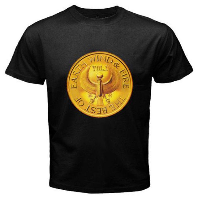 New EARTH WIND & FIRE *The Best Of Logo Men's White Black T Shirt ...
