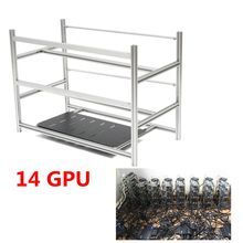Open Air Mining Rig Stackable Frame Case 10 LED Fans For 14 GPU ETH BTC Ethereum Computer Mining Case Server Chassis Without Fan