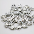 10PCS 12*4.6mm Hot wholesale Snap Button Metal Accessory Silver-plate for Necklace Bracelet Machining parts Jewelry Making