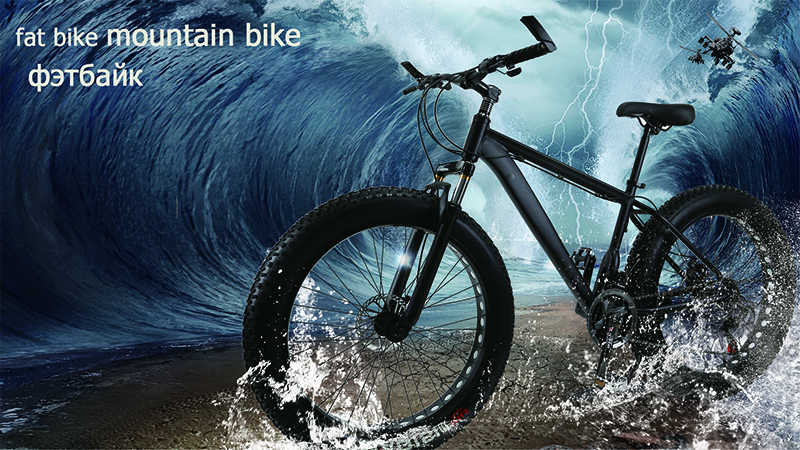 HTB1M9VpXBWD3KVjSZKPq6yp7FXaw wolf's fang Mountain Bike 21/24Speed bicycle Cross-country Aluminum Frame 26x4.0 Fat bike Snow road bicycles Spring Fork Unisex