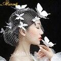 Atacado 3 pçs/lote Branco Elegante Borboleta Grampos de Cabelo Mulheres Acessórios para o Cabelo Fotografia Ganchinhos para As Mulheres Meninas Y021