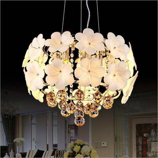 Modern Crystal Ceiling Light E14 crystal ceiling Lamp Luxurious Light Fixture