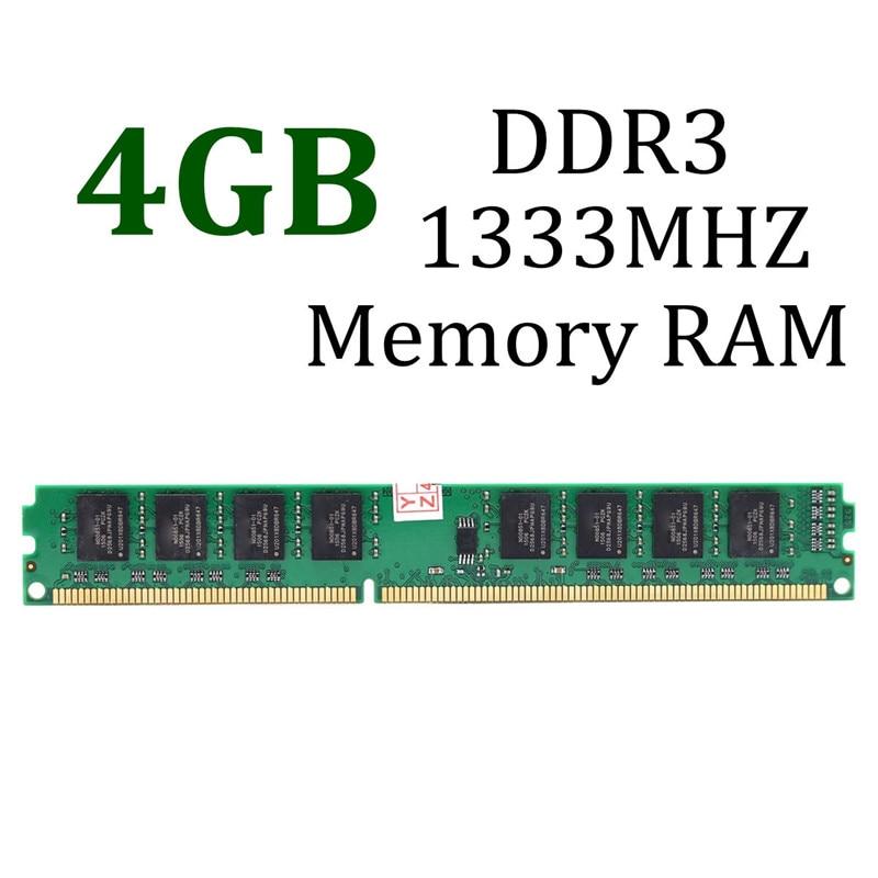 цена на 4GB DDR3 Memory RAM PC3-10600 DDR3-1333 MHZ 240-Pin 1.5 V Non-ECC Desktop PC DIMM Memory RAM LAPTOP System High Compatible