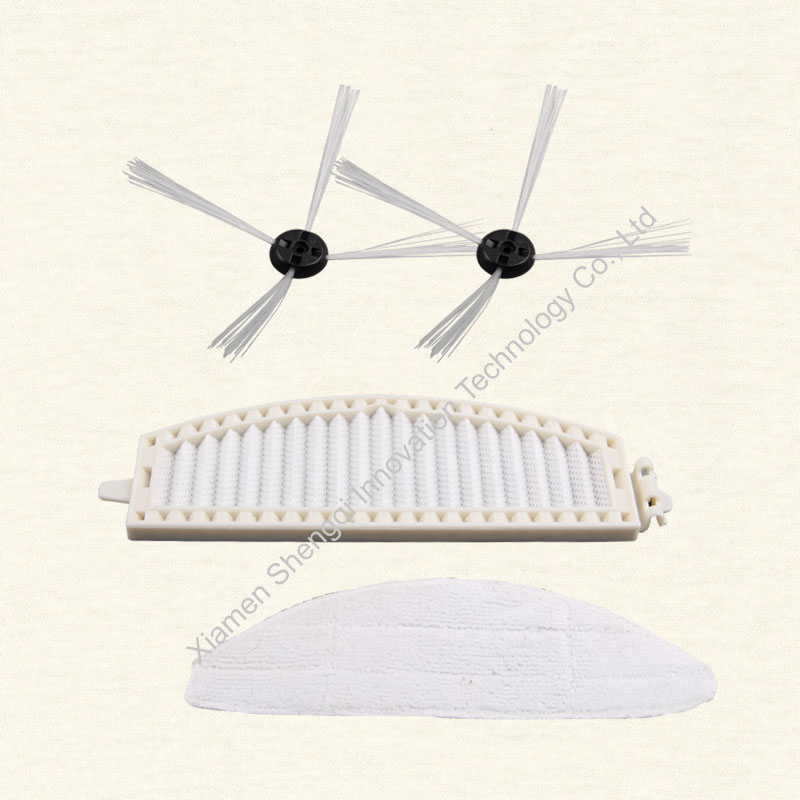 Side brush *2 pcs, Mop *1 pc, Filter *1 pc for A380 vacuum cleaner accessories 2016 new, original replacement parts side brush 3 pcs big middle brush 1 pc small middle brush 1 pc a380 vacuum cleaner accessories original replacement parts