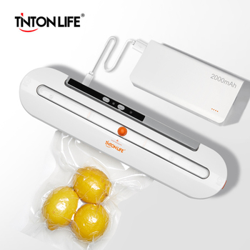 2000mAh Wireless Food Vacuum Sealer Travel Packaging Machine With 10pcs Bags Vacuum Food Sealers