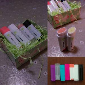 Image 2 - Wholesale 100 Pcs 4.5g / 0.15oz Empty Oval Flat Tubes Lip Balm Tubes Lipstick Containers DIY Cosmetic Tube Bottle multi colour