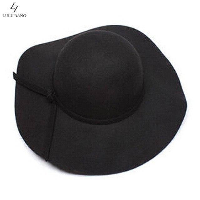 6cd3fc832f0 Vintage Retro Kids Child Boy Girl Hats Fedora Wool Felt Crushable Wide Brim  Cloche Floppy Sun Beach Cap