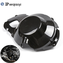 Motorcycle Carbon Fiber MT-09 FZ 09 Right Engine Stator Case Plug Clutch Cover Protector For Yamaha MT09 MT FZ-09 2013-2017