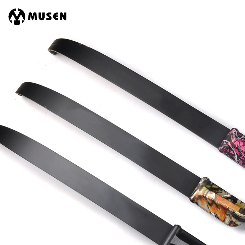 1 Pair High Quality Take Down Recurve Bow Limbs 30-50 Lbs For Long Bow Hunting With Fiberglass And  Wood Laminated