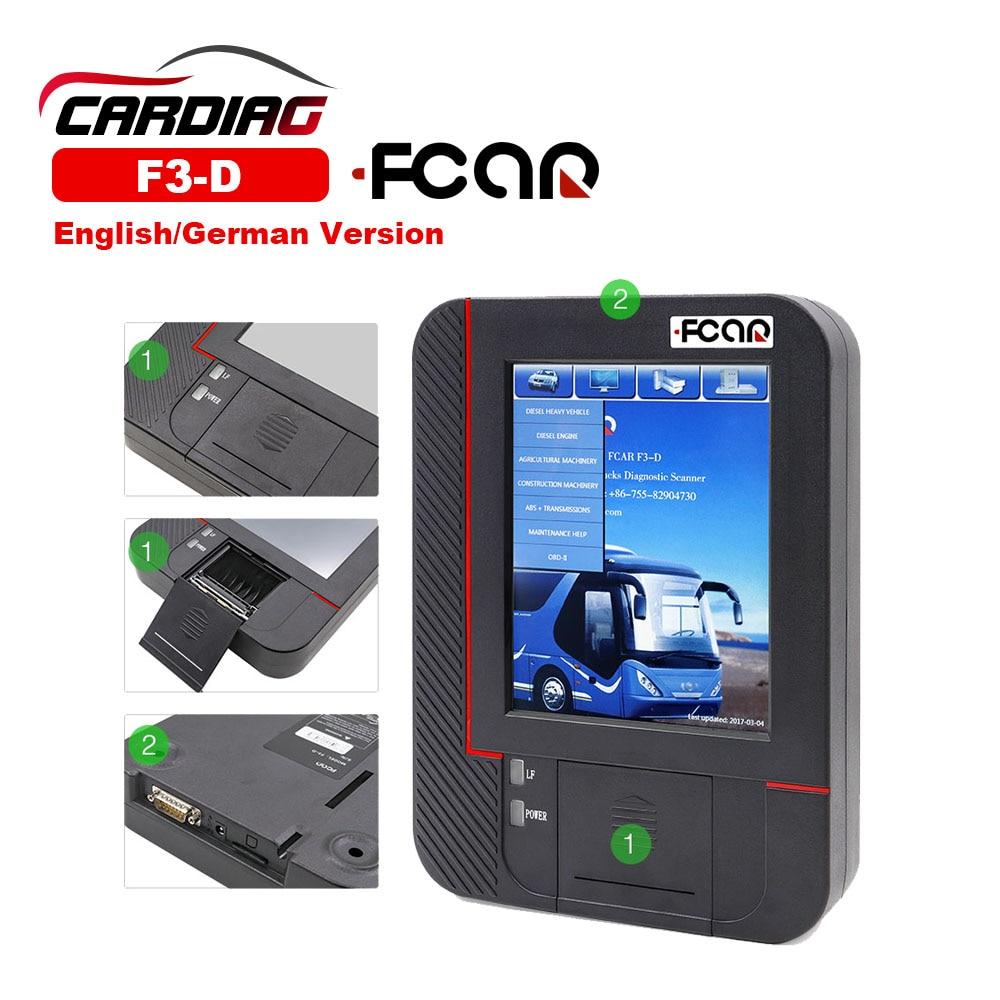 2018 Original Fcar F3 D Heavy Duty Truck Scanner for Diesel Fcar F3 D Truck Diagnostic