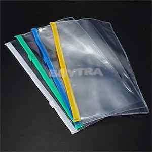 Estojo para lápis e documentos, estojo de plástico transparente a6, cobertura de lixa para escritório, 1 peça papelaria papelaria