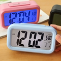Hot Sale Silent Alarm Clock Battery Desktop Clocks with Date Display Night Light Digital Clock Free Shipping -42